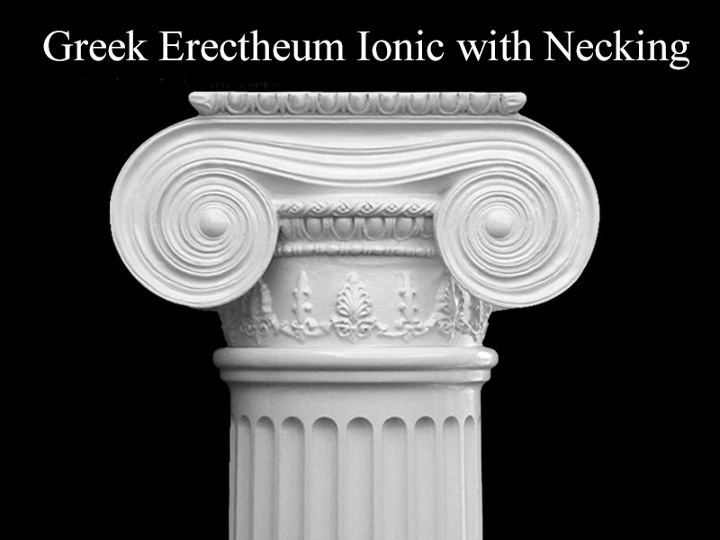 #60 Greek Erectheum Ionic Column with Necking