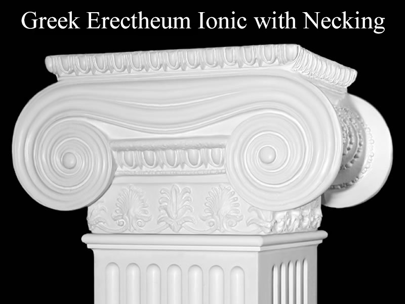 #61 Greek Erectheum Ionic Column with Necking Detail