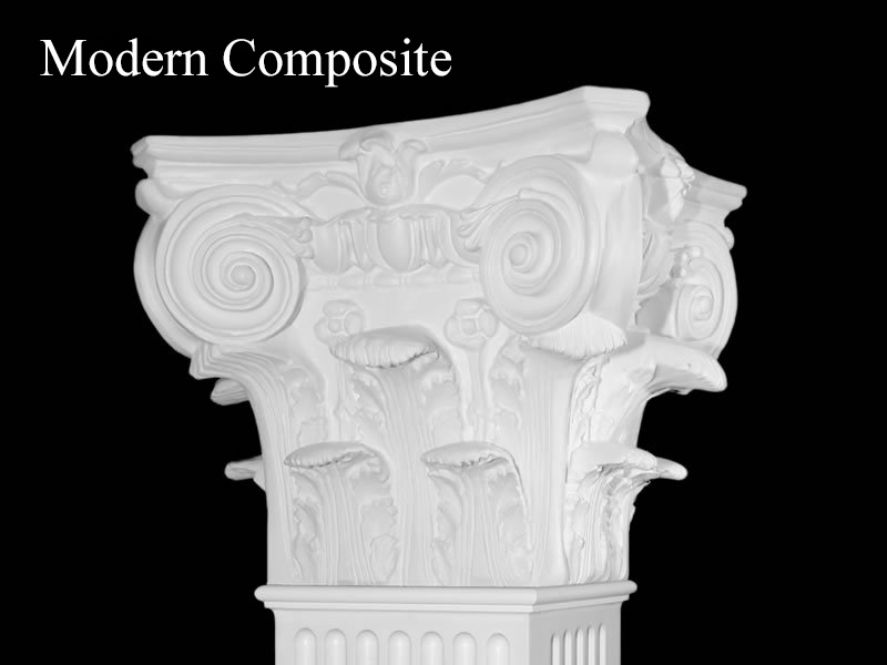 #63 Modern Acanthus Leaf Fluted Column