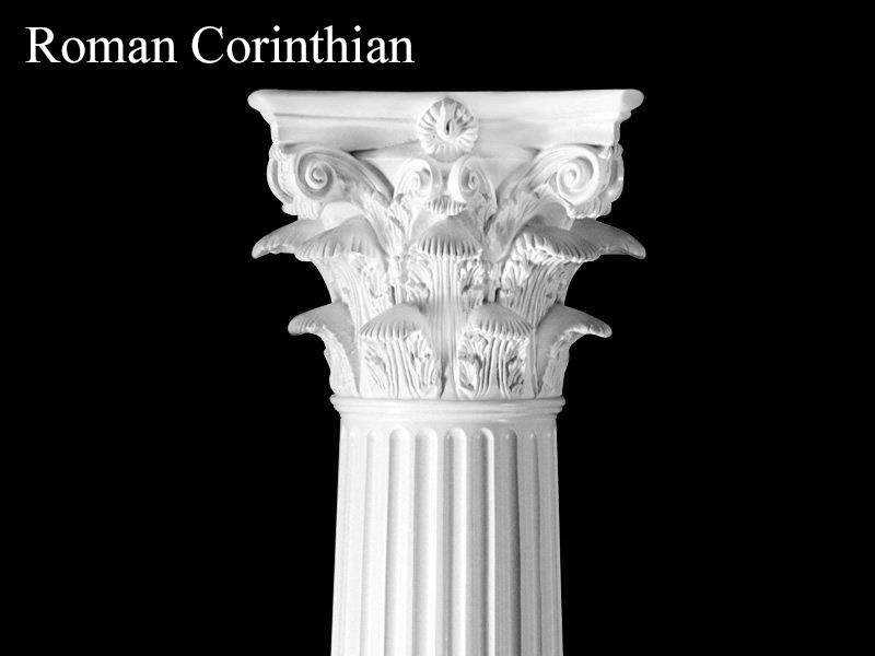 #64 Roman Corinthian Fluted Column
