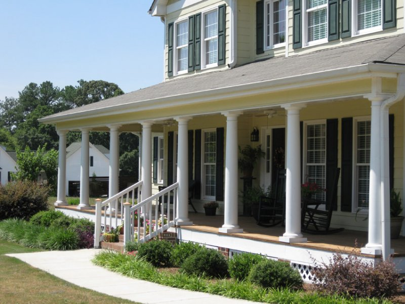 Architectural columns by new england classic for House plans with columns and porches