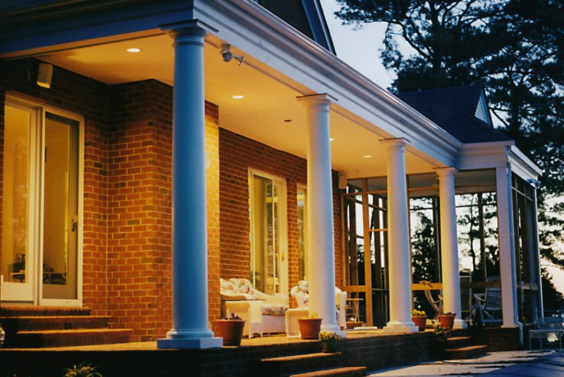 #27 Porch Columns at Night