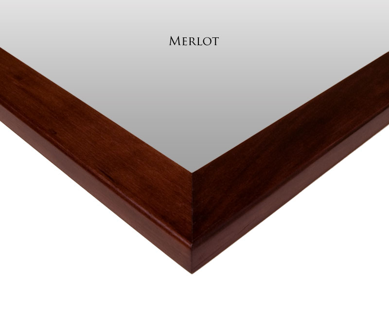 Merlot Mirror Frame Finish